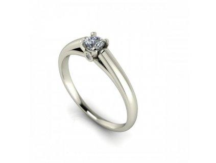 Prsten z bílého zlata se zirkony SPJ48H Šperky JANN