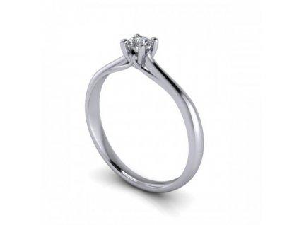 Platinový prsten s briliantem PT40H Šperky JANN