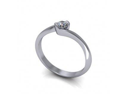 Platinový prsten s briliantem PT49H Šperky JANN