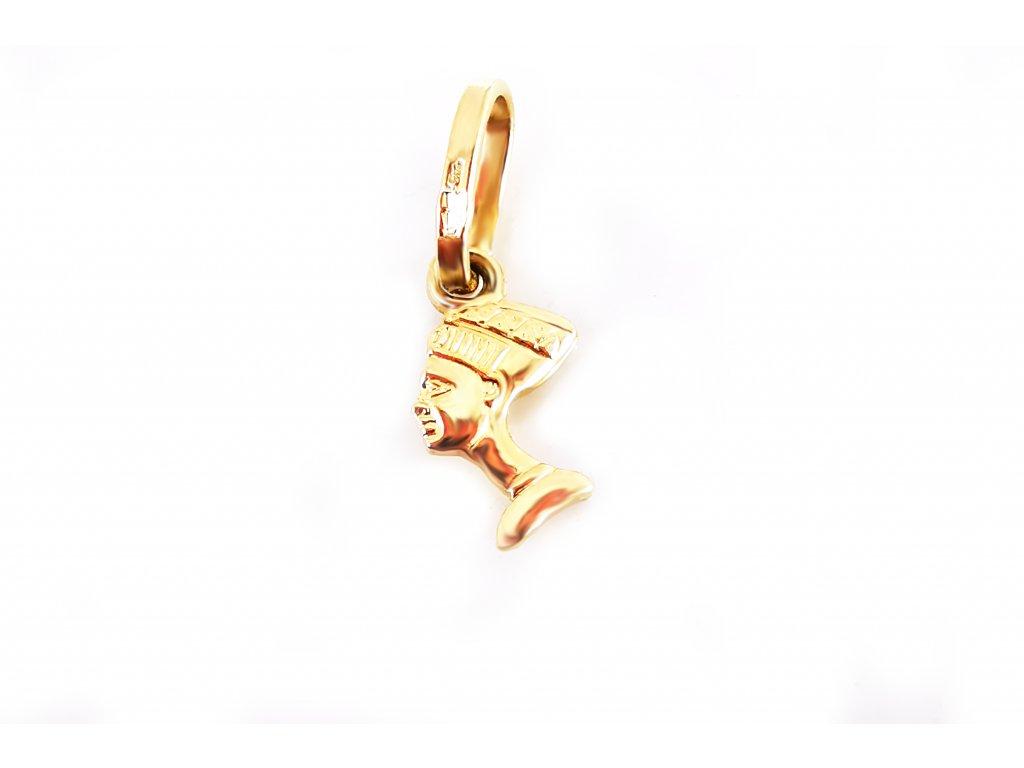 """Prívesok """"Kleopatra"""" zo žltého zlata  +servis + krabička"""