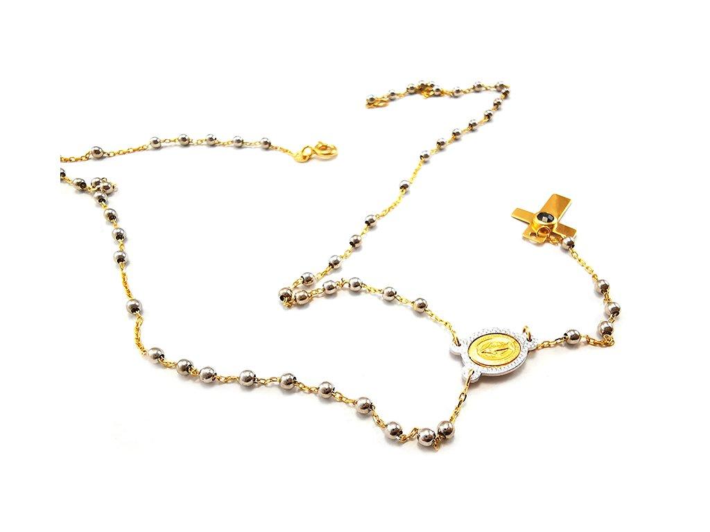 Náhrdelník RUŽENEC z kombinovaného žlto-bieleho zlata  +servis + krabička