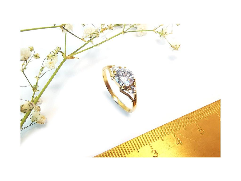 Prsteň VZOR 52 menší zo žltého zlata