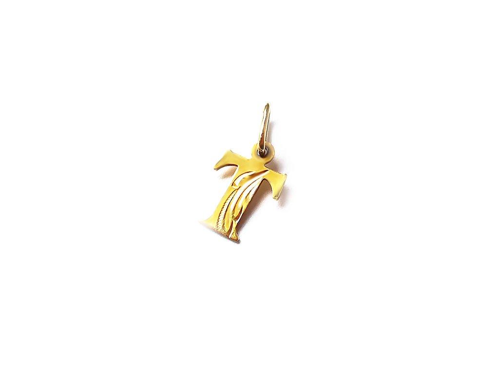 Zlatý prívesok PÍSMENO T žltý  +servis + krabička
