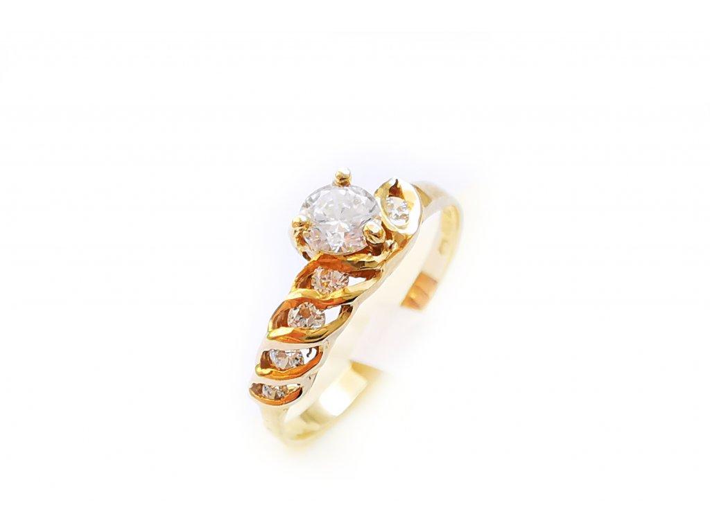 Zlatý prsteň VZOR 385 žltý  +doživotný servis + krabička, darček