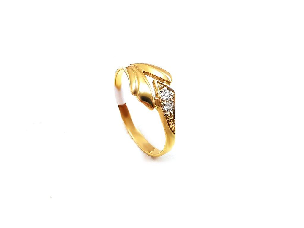 Zlatý prsteň VZOR 16 žltý  +doživotný servis + krabička, darček