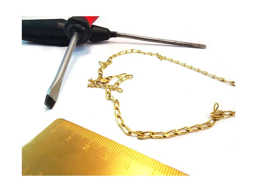 """Retiazka zo žltého zlata vzor """"RYŽA""""  +servis + krabička, darček"""