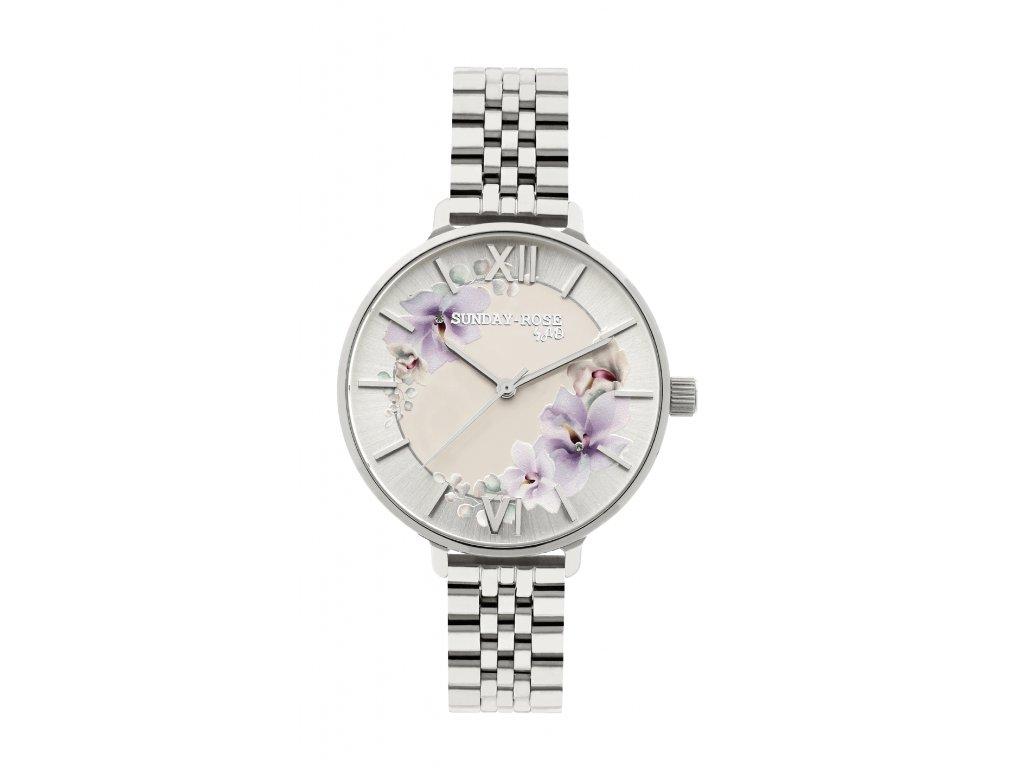 Dámske náramkové hodinky SUNDAY ROSE Spirit SILVER  +servis + krabička