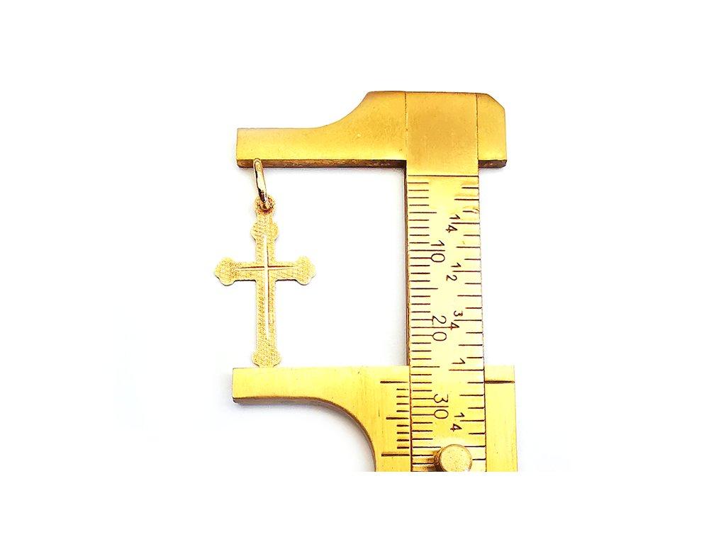Elegantný prívesok KRÍŽIK zo žltého zlata  +krabička, darček