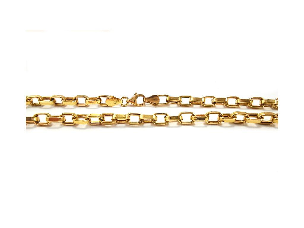 "Dámsky retiazka ""ANKER"" dutá zo žltého zlata  +servis + krabička, darček"