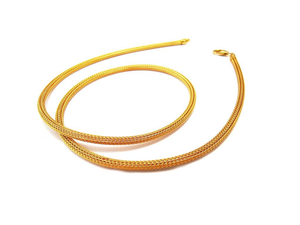 Prepletaný náhrdelník zo žltého zlata  +servis + krabička, darček