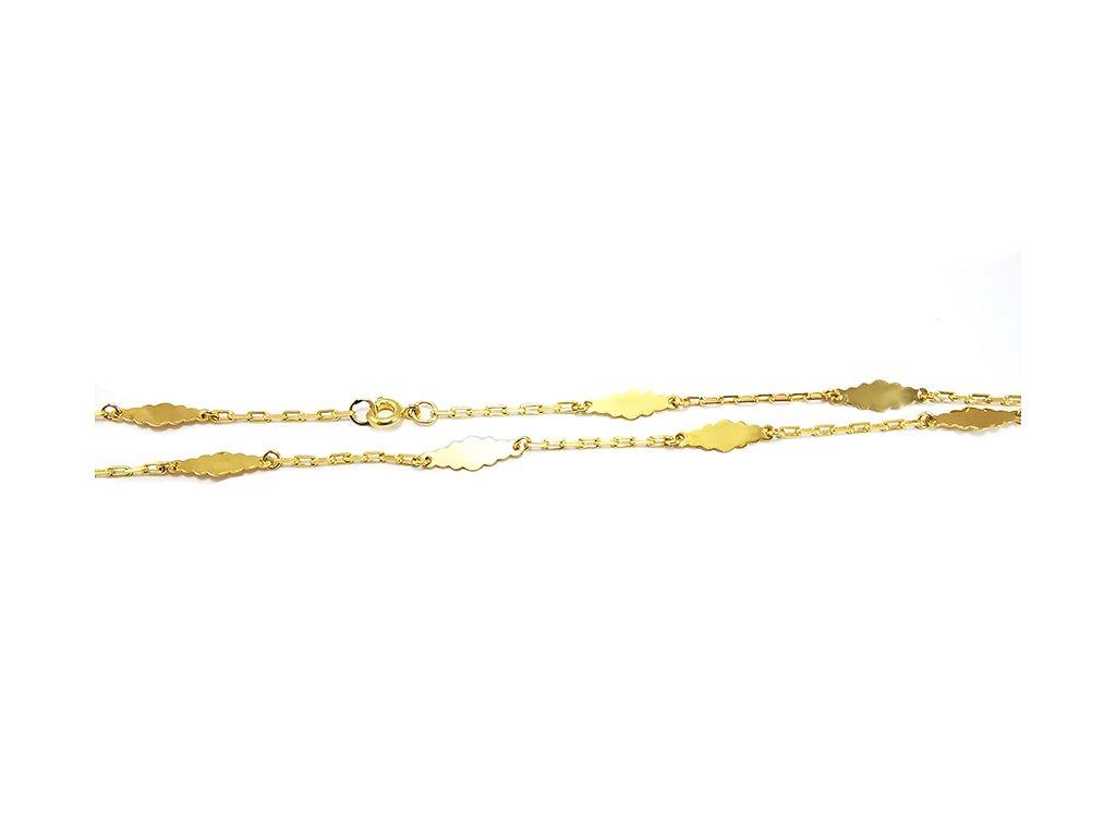 Trendy retiazka zo žltého zlata  +servis + krabička, darček