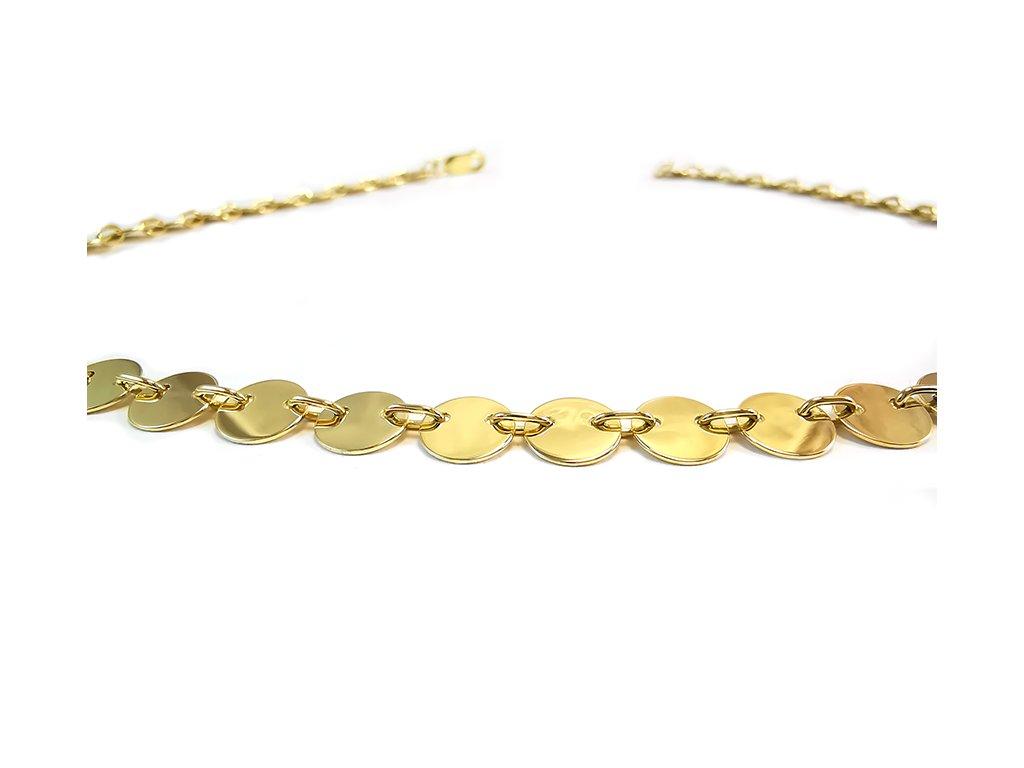 Prekrásny náhrdelník DARIA zo žltého zlata  +servis + krabička, darček