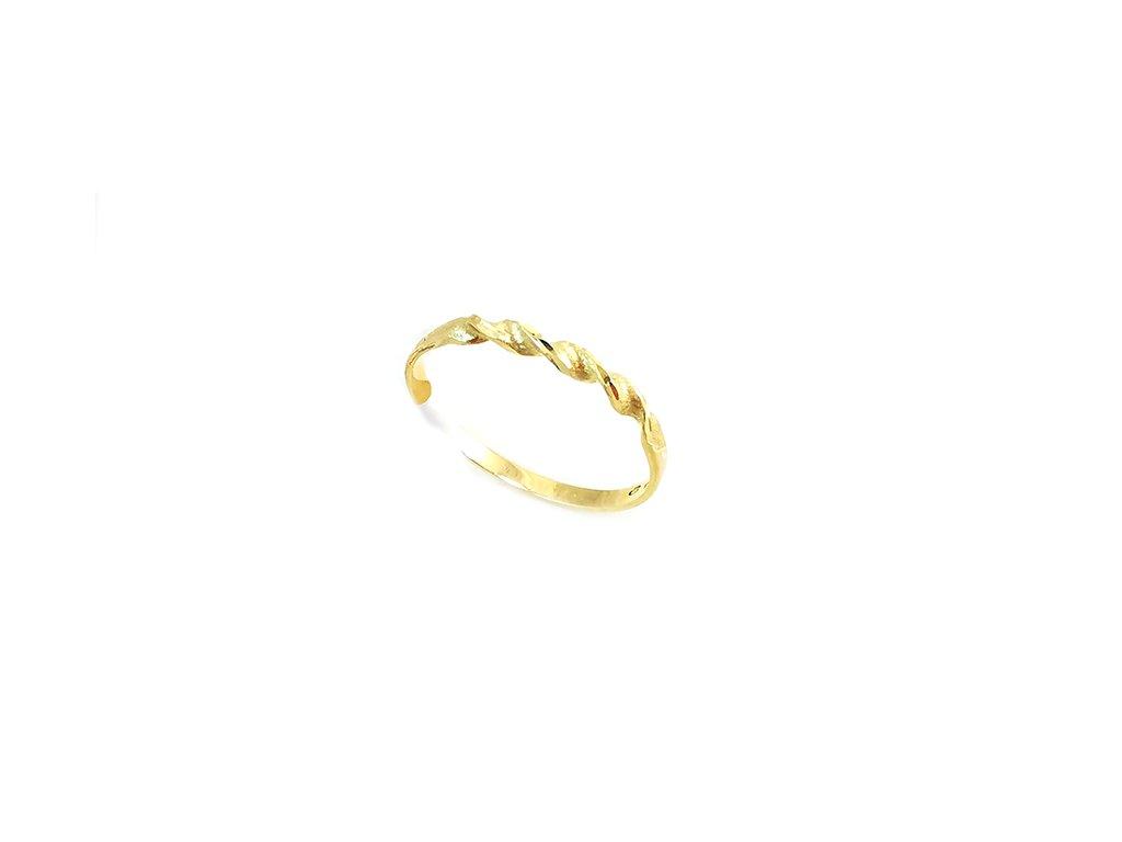 Jemný prstienok  VRTUĽKA zo žltého zlata  +servis + krabička