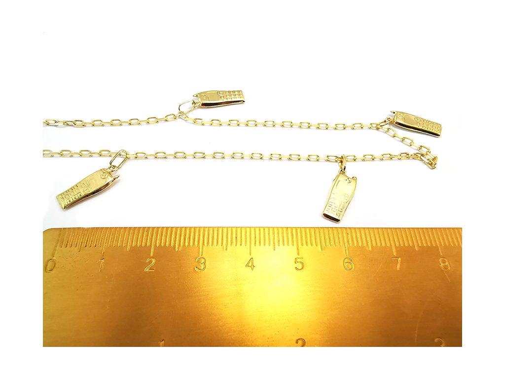 Originálna retiazka na nohu so zlatými mobilmi  + servis # GIFTS # krabička