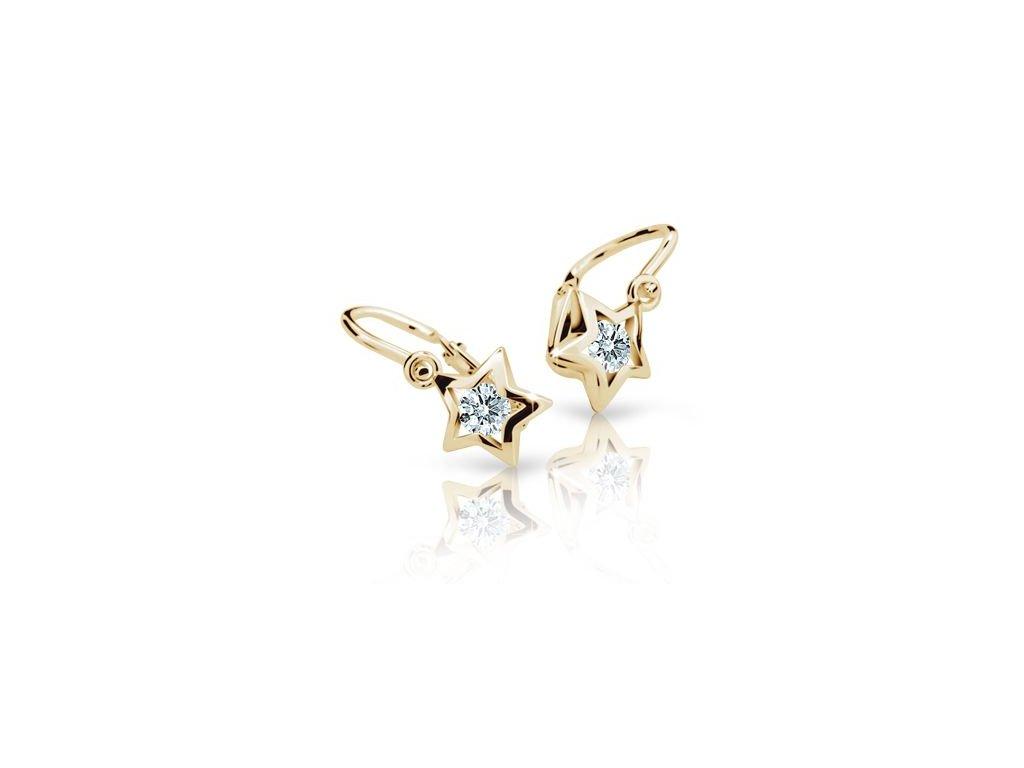 detske nausnice danfil hviezdicky c1942 zo zlteho zlata white zapinanie brizura 5061