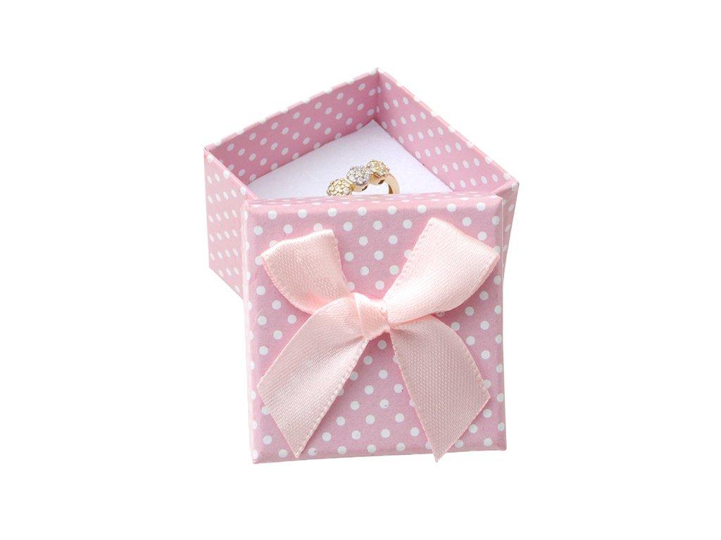Pôvabná papierová krabička s mašličkou