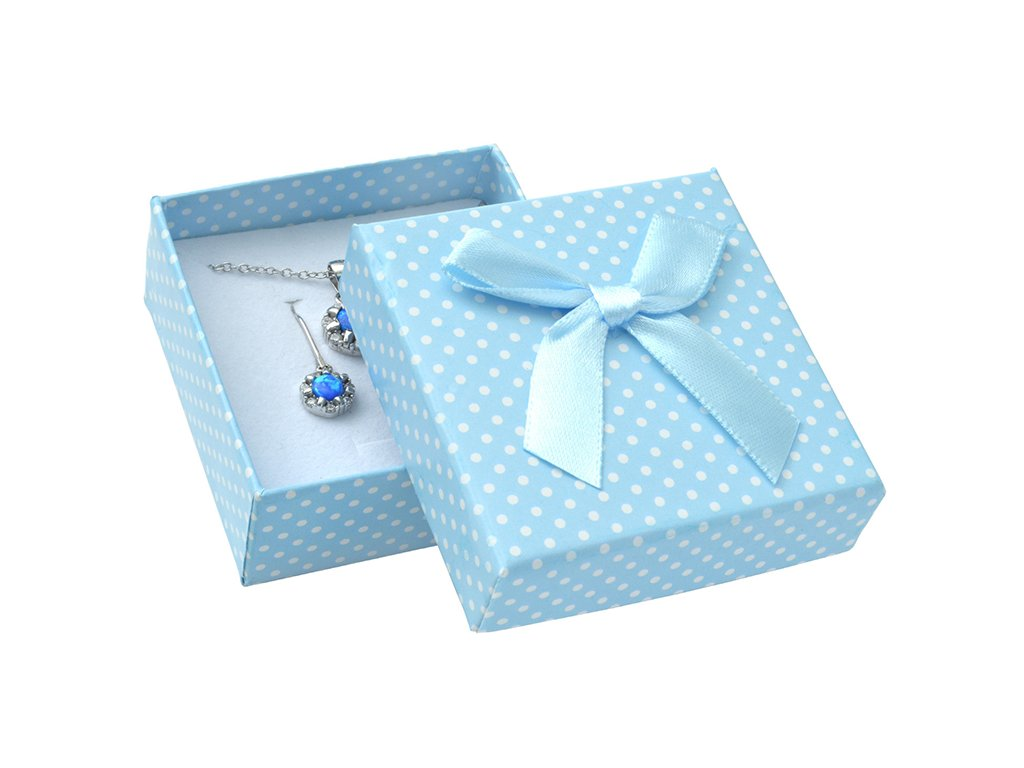 Krabička papierová- modrá