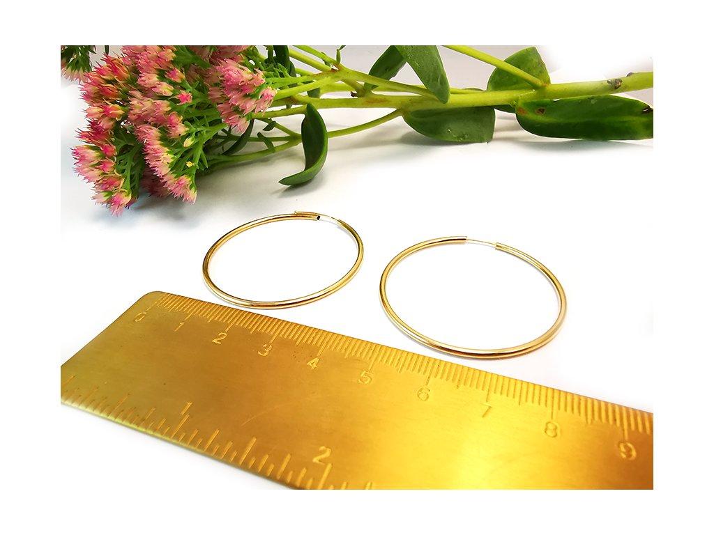 Tradičné a nadčasové KRUHY zo žltého zlata  +servis + krabička, darček