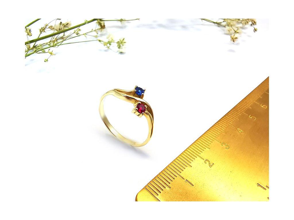 Dámsky prsteň VZOR48 zo žltého zlata  +servis + krabička + darček