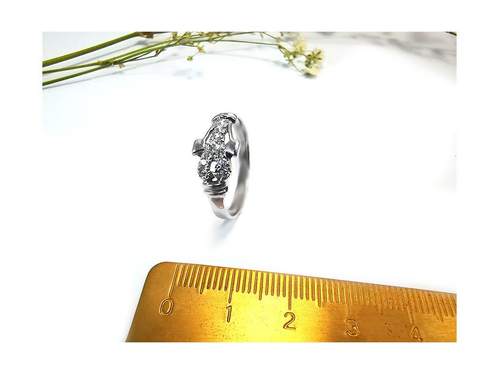 Prsteň VZOR23 z bieleho zlata  + krabička a darček
