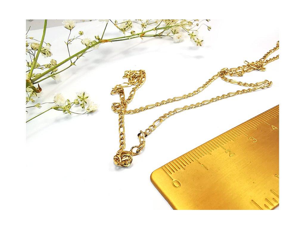 """Retiazka """"FIGARO 3+1"""" zo žltého zlata  +doživotný servis a krabička a darček"""