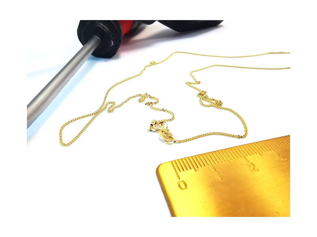 """Retiazka """"ROMBO"""" zo žltého zlata  + krabička a darček"""