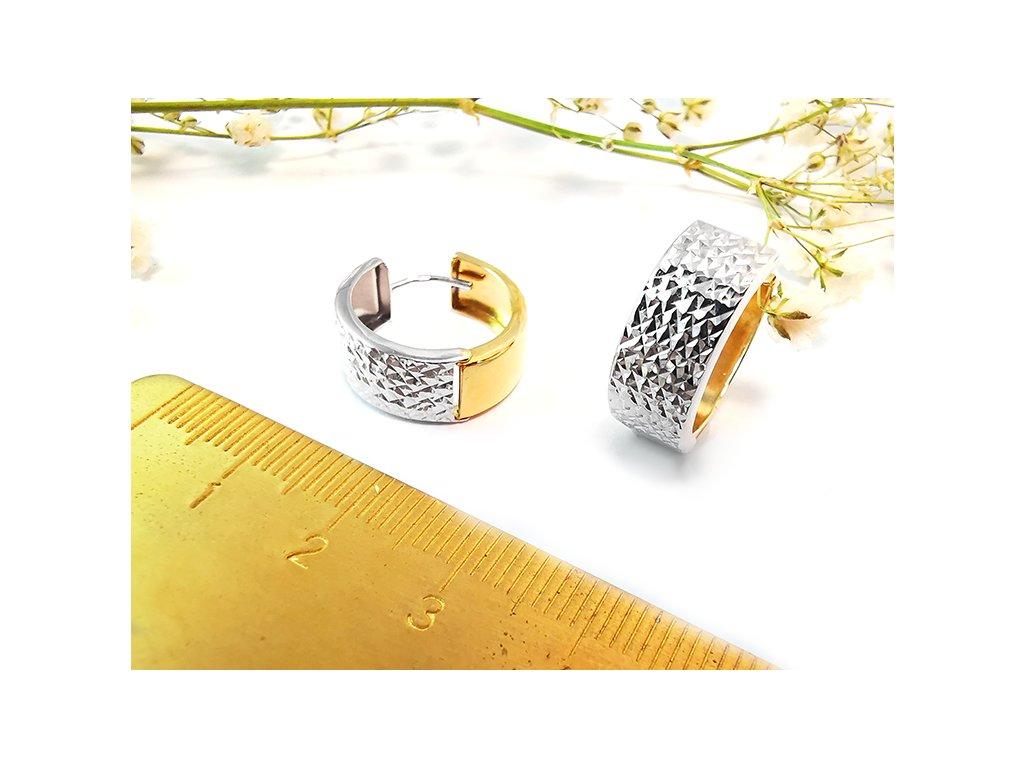 Náušnice obojstranné krúžky  + servis a krabička, darček