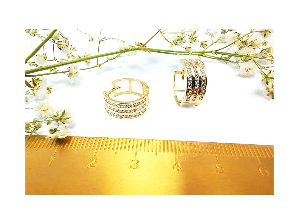 Výnimočné zlaté kruhy  + servis a krabička, darček