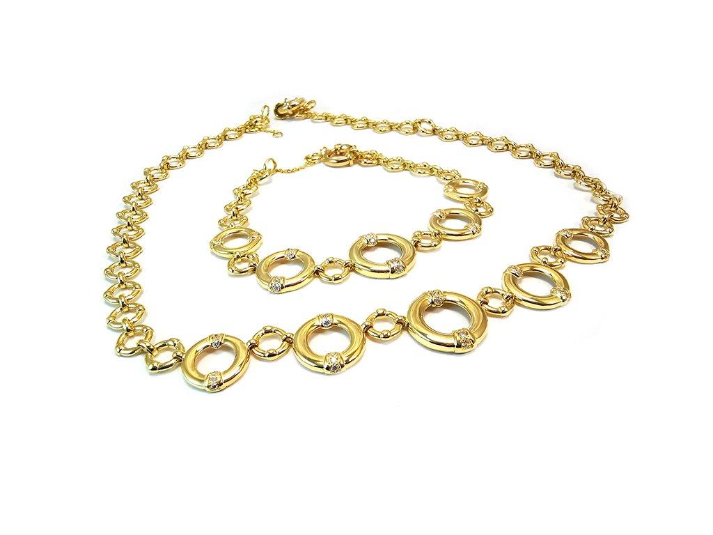 Nádherná sada náhrdelník a náramok  +servis + krabička