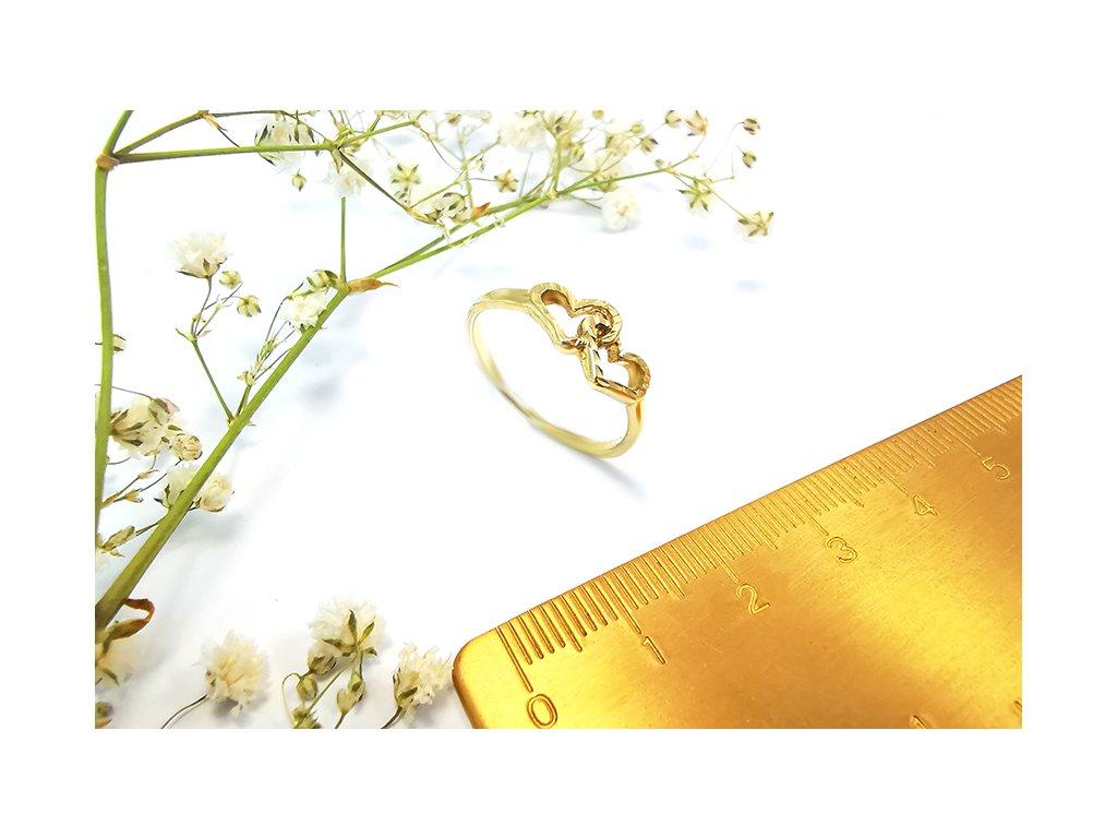 Krásny prsteň VZOR P282 zo žltého zlata