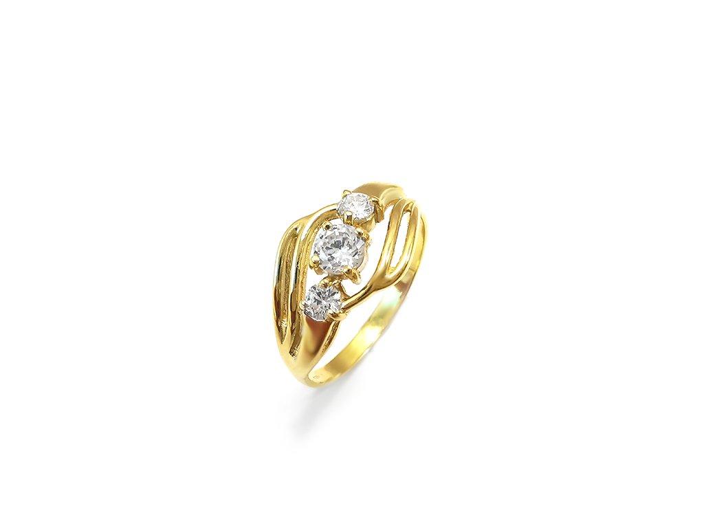 Dámsky prsteň VZOR 49 zo žltého zlata