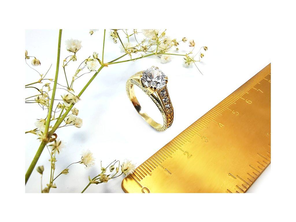 Prsteň VZOR 264 zo žltého zlata  + servis a krabička, darček