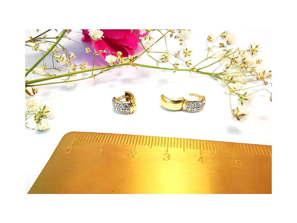 Náušnice zo žltého zlata  + krabička a darček