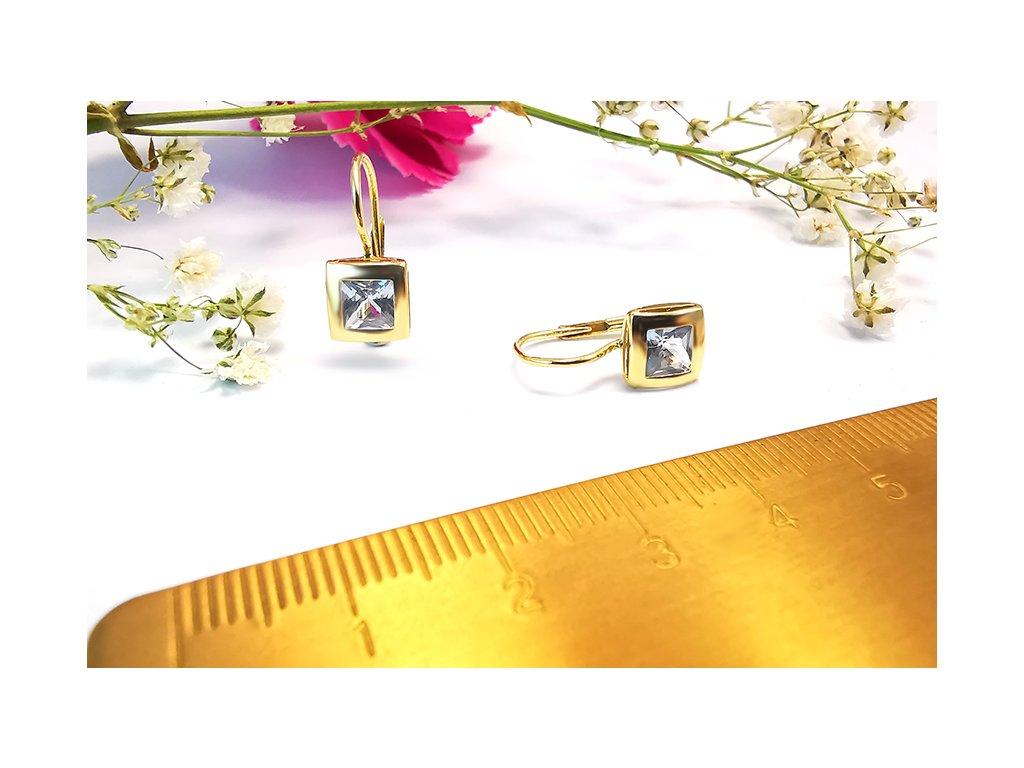 Náušnice VZOR 130 zo žltého zlata  + servis a krabička, darček
