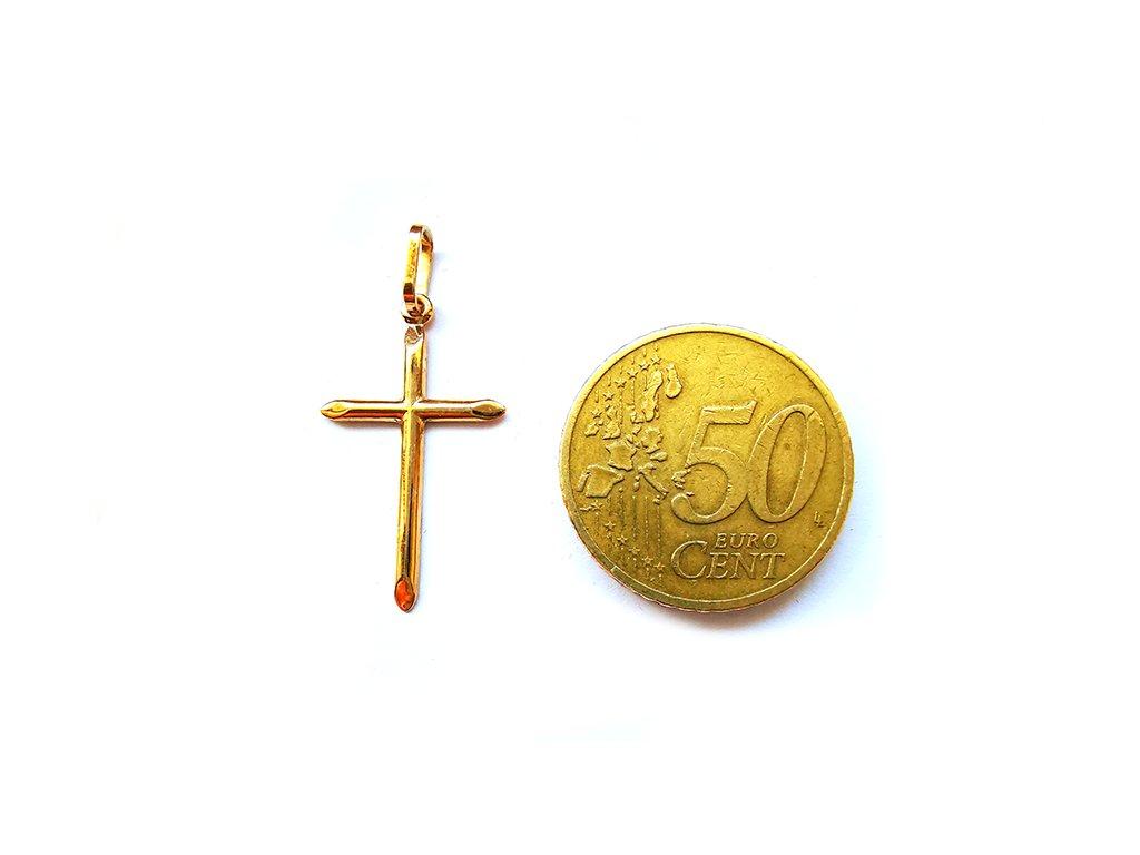 Prívesok KRÍŽIK zo žltého zlata  + krabička a darček