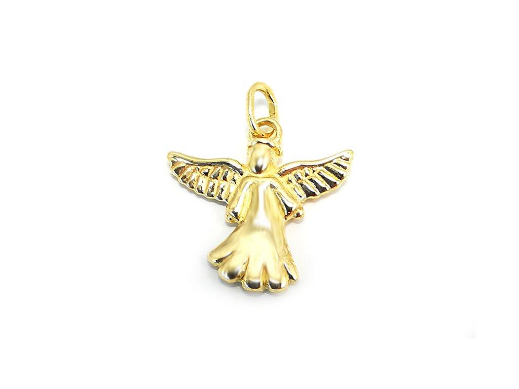 Prívesok anjelik zo žltého zlata