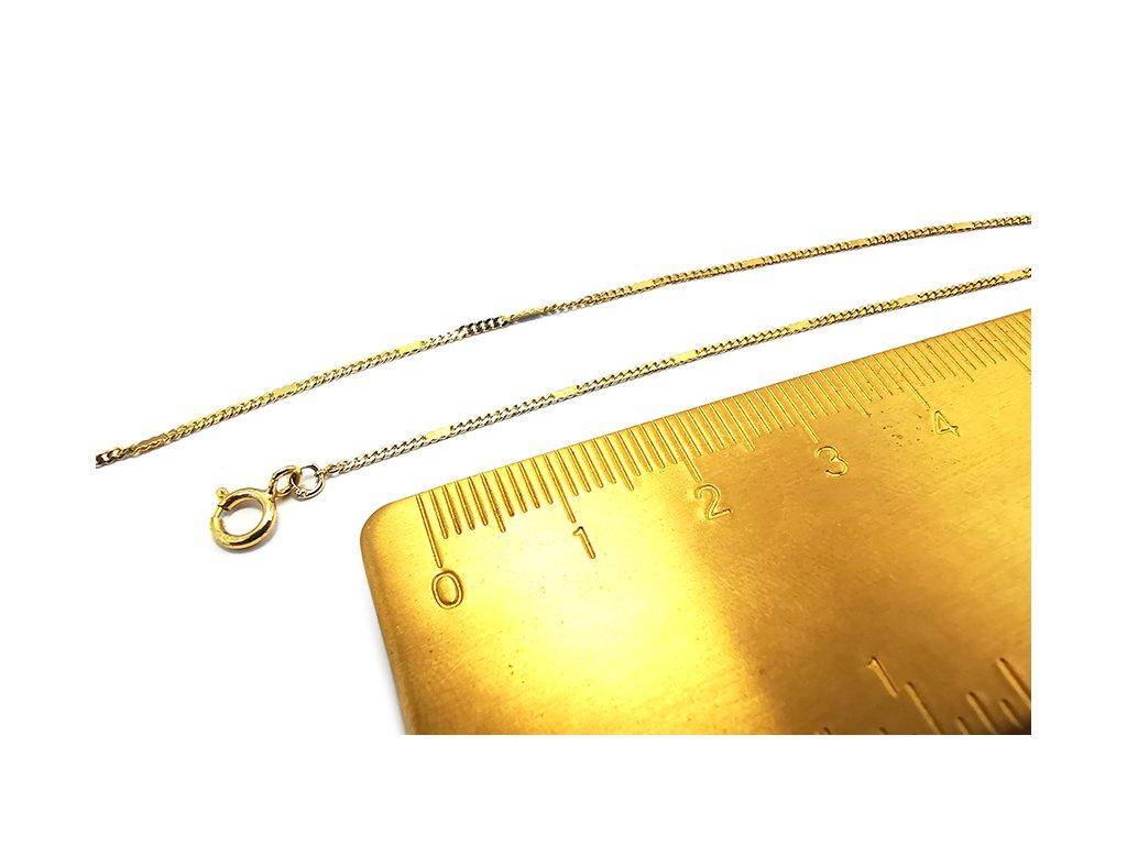 Jemný náramok zo žltého zlata  + krabička