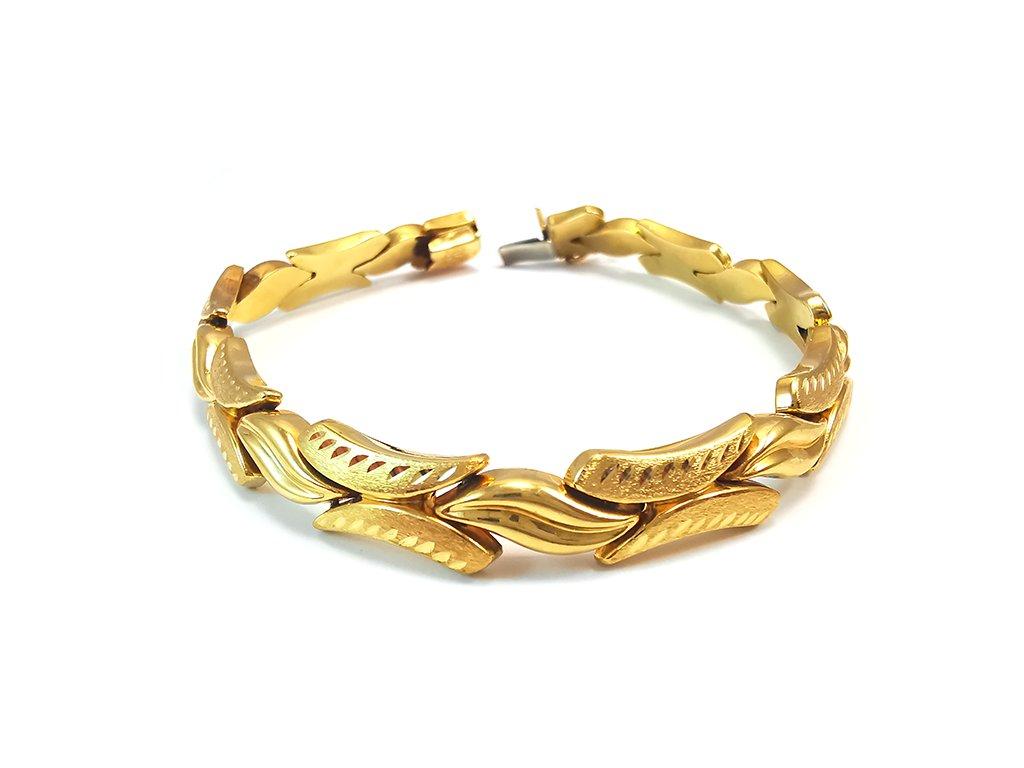 Extravagantný náramok zo žltého zlata