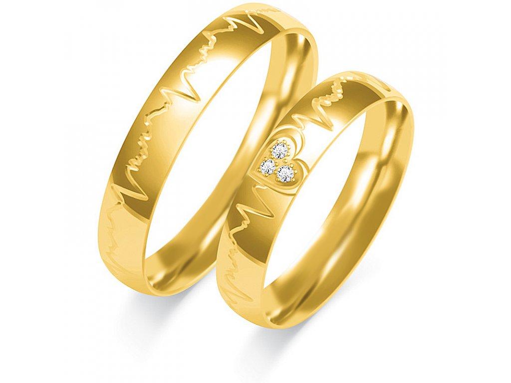 Svadobné obrúčky O-380 zo žltého zlata