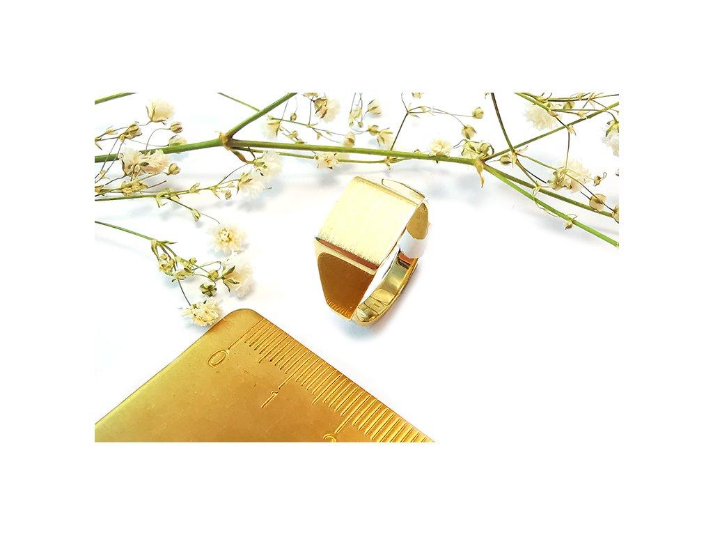 Prsteň VZOR 41 zo žltého zlata  +servis + krabička + darček