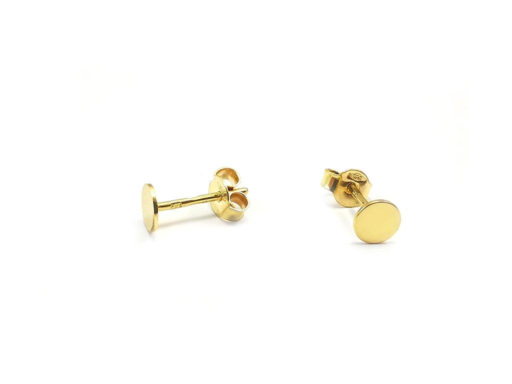 Zlaté náušnice krúžky s puzetovým zapínaním