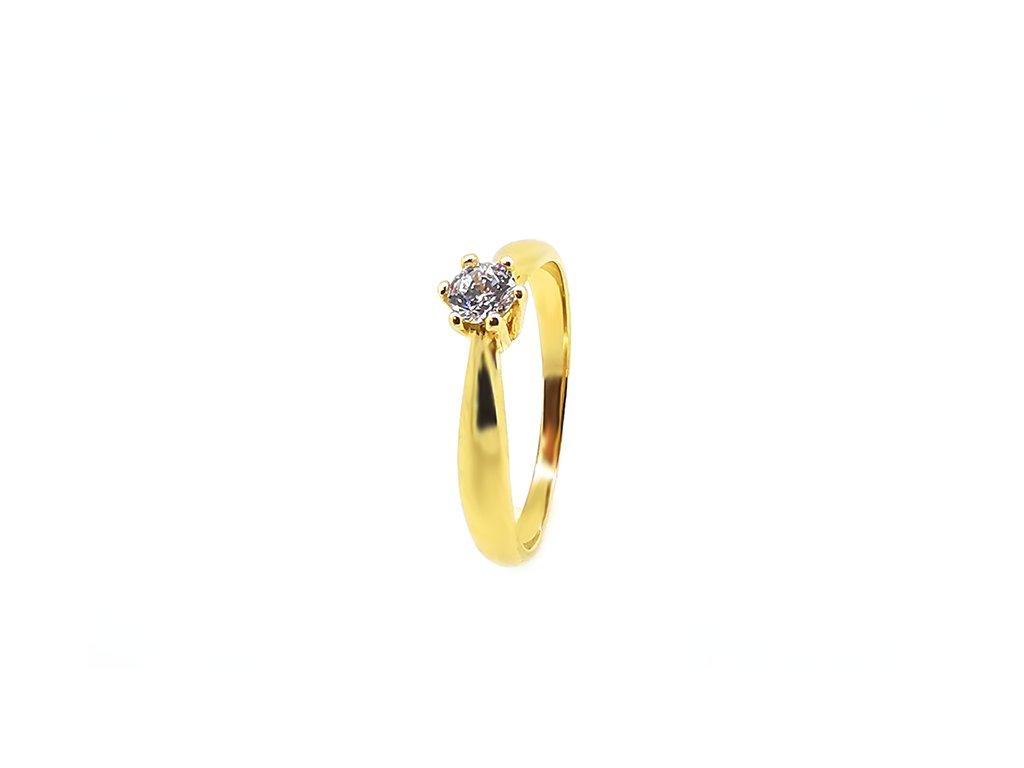 Zásnubný prsteň zo žltého zlata