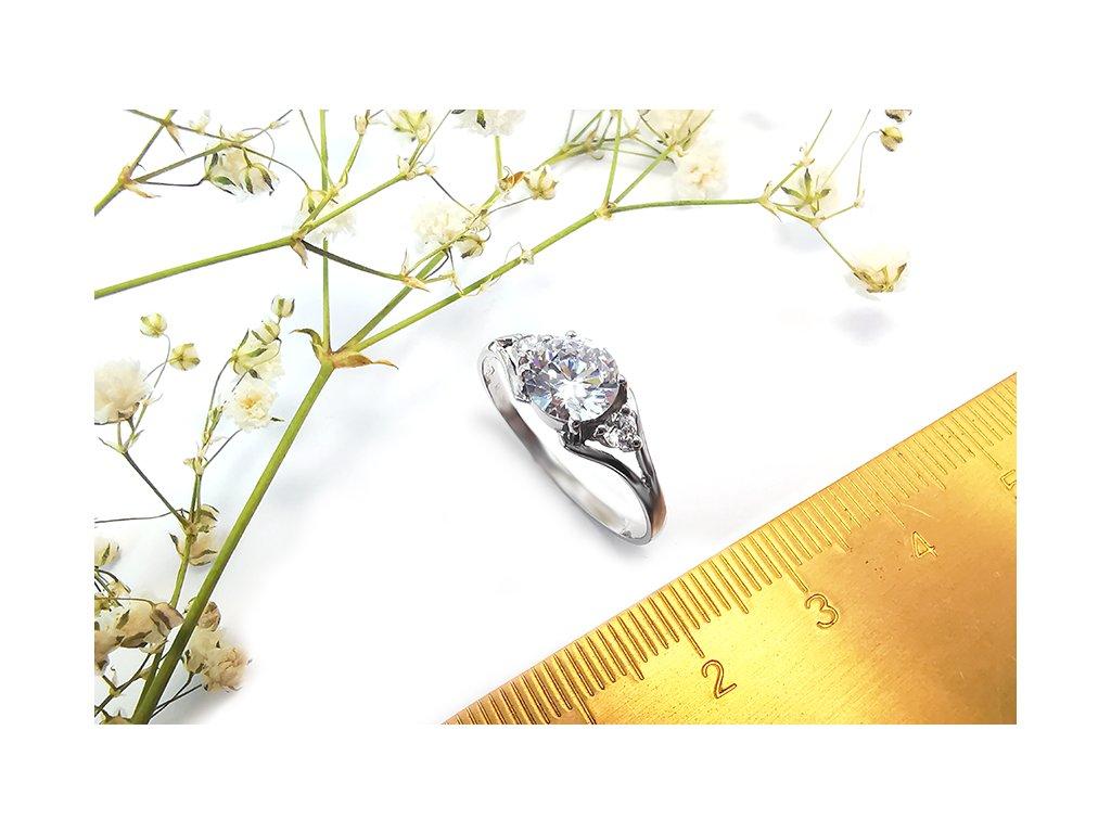 Dámsky prsteň VZOR 52 z bieleho zlata