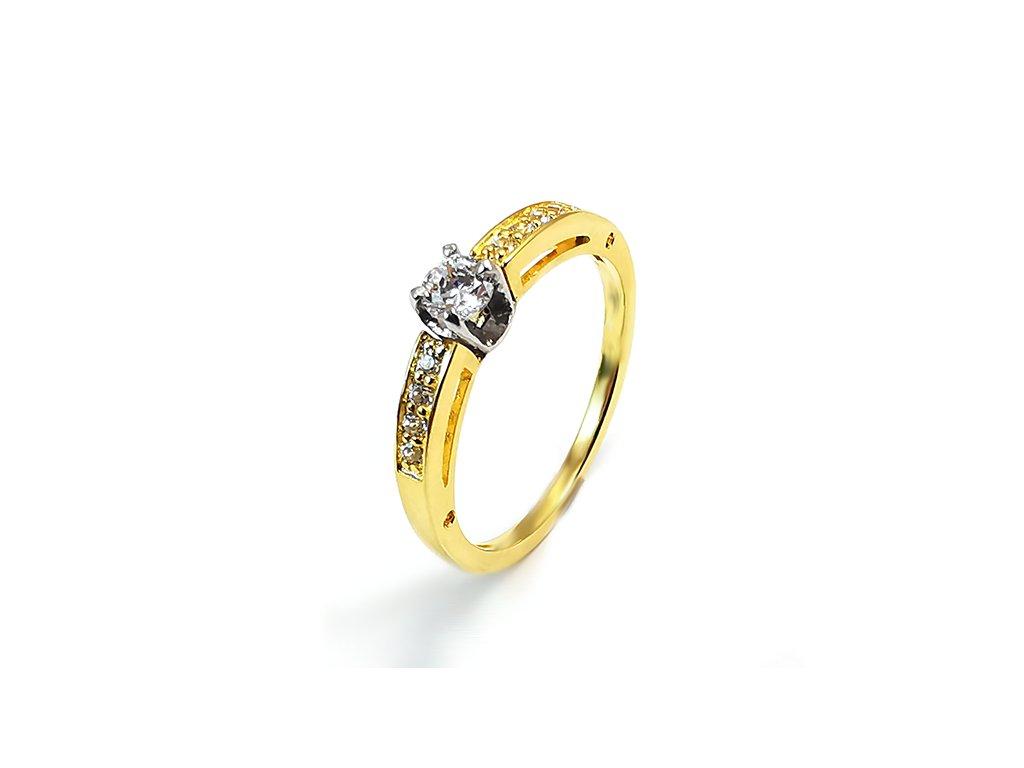 Zásnubný prsteň z kombinovaného žlto-bieleho zlata