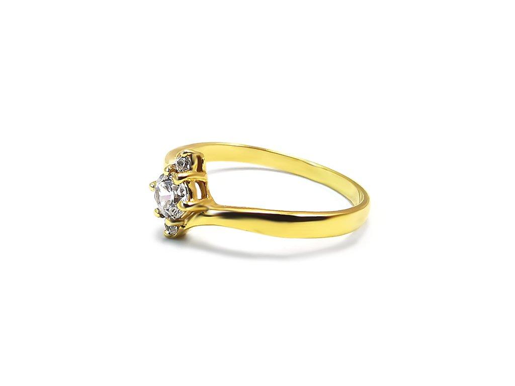 Zásnubný prsteň VZOR 304 menší zo žltého zlata