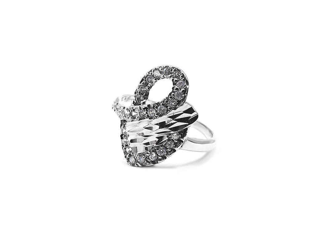 Dámsky prsteň VZOR 268 z bieleho zlata