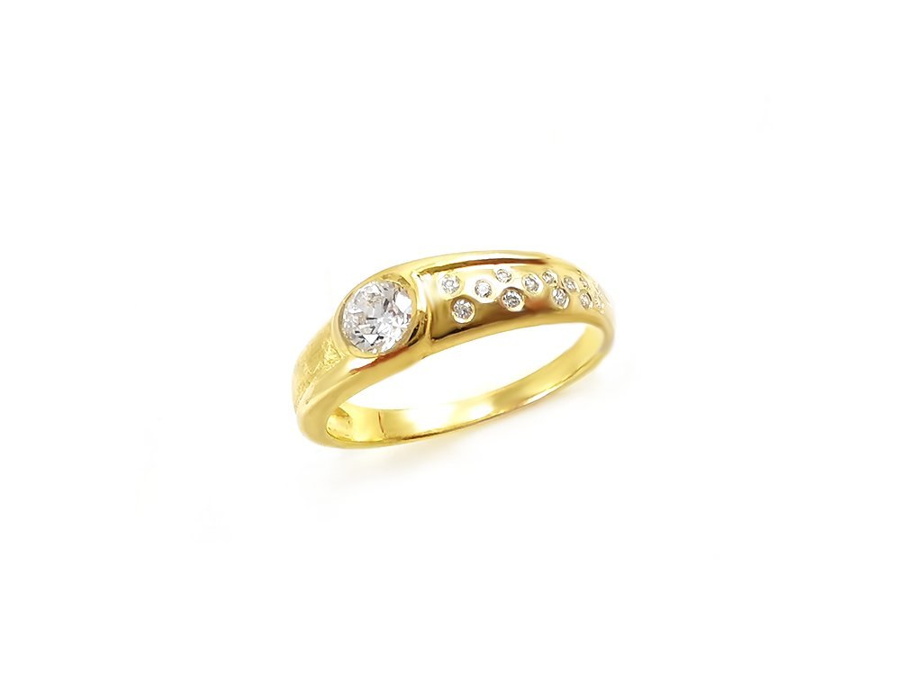 Zlatý prsteň VZOR 22 zo žltého zlata
