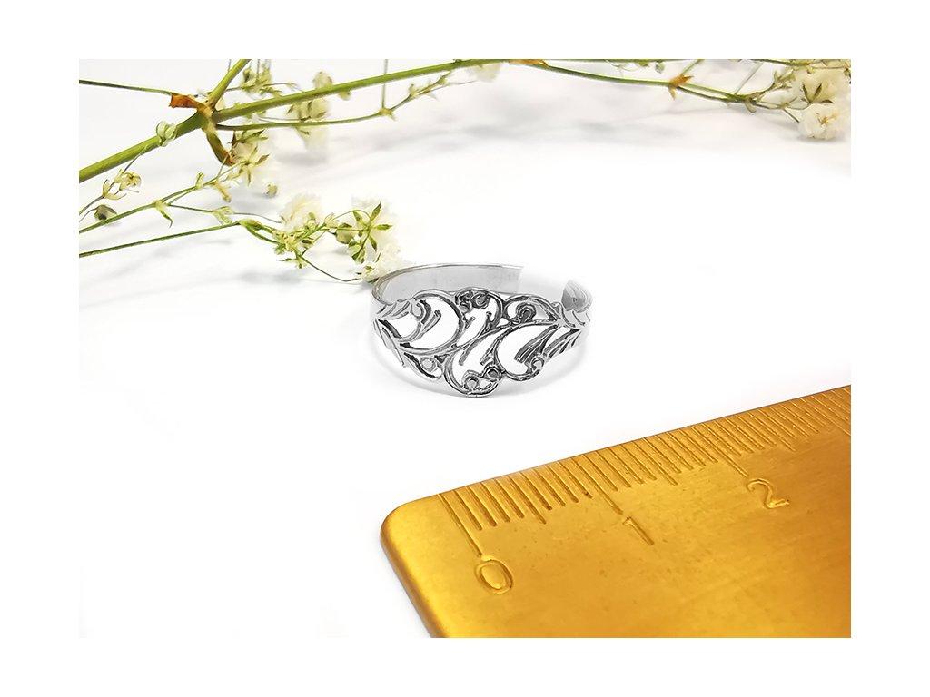 Prsteň VZOR 27 z bieleho zlata