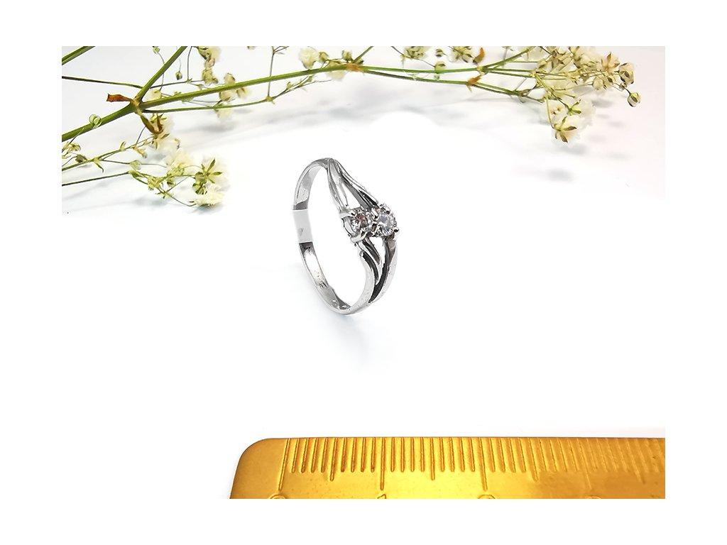 Dámsky prsteň VZOR47 z bieleho zlata