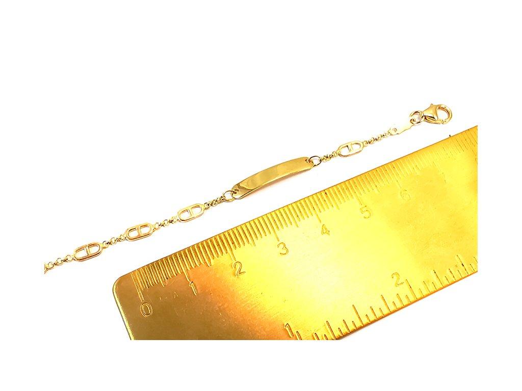 Detský náramok zo žltého 14 karátového zlata